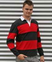 Rugby shirts zwart rood