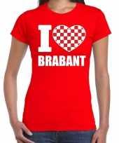 Shirt tekst i love brabant rood dames