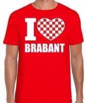 Shirt tekst i love brabant rood heren