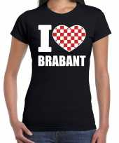 Shirt tekst i love brabant zwart dames