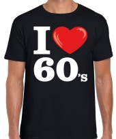 Sixties shirt i love 60s bedrukking zwart heren