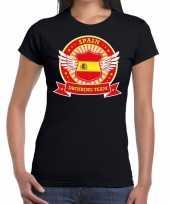 Spain drinking team t-shirt zwart dames