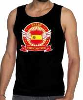 Spain drinking team tanktop mouwloos shirt zwart heren
