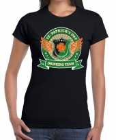 St patrick s day drinking team t-shirt zwart dames