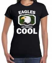 T shirt eagles are serious cool zwart dames zeearenden arend shirt
