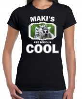 T shirt makis are serious cool zwart dames maki apen maki shirt
