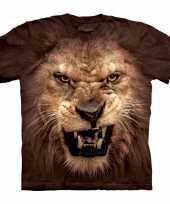 The mountain bruin realistisch leeuwen t-shirt