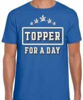 Topper for a day feest-shirt topper blauw heren