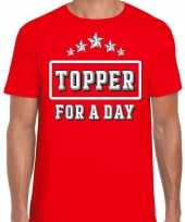 Topper for a day feest-shirt topper rood heren