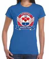 Toppers drinking team t-shirt blauw dames
