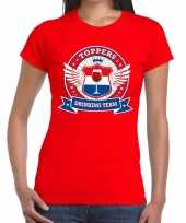 Toppers drinking team t-shirt rood dames