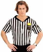 Voetbal scheidsrechter heren kostuum shirt opdruk