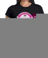 Vrijgezellen drinking team t-shirt vrijgezellenfeest zwart dames