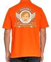 Willems drinking team polo t-shirt oranje kroon heren