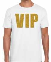 Wit vip goud fun t-shirt heren