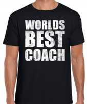 Worlds best coach werelds beste coach cadeau shirt zwart heren