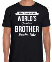 Worlds greatest brother kado shirt broers zwart heren
