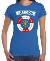 Zeeman sailor carnaval verkleed shirt blauw dames