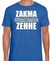 Zeeuws dialect-shirt zakma zehhe zeelandse vlag blauw heren